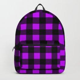 Purple Black Pattern  Backpack