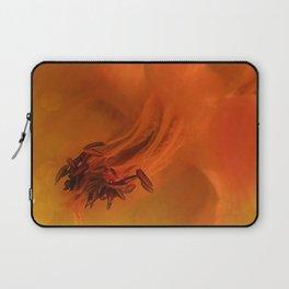 Purple Flower Edited Orange Laptop Sleeve