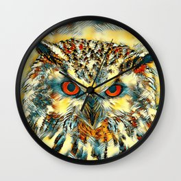 AnimalArt_Owl_20170918_by_JAMColorsSpecial Wall Clock