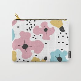 Abstract fowers Carry-All Pouch