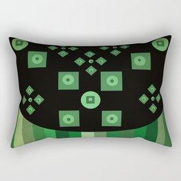 green shapes Rectangular Pillow
