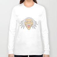 einstein Long Sleeve T-shirts featuring Einstein by martinashdesign
