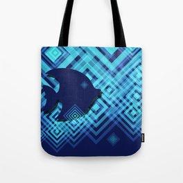 Blue Fish Angel Anglers Angles Tote Bag