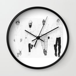 Here They Come aka: Four Dickheads Wall Clock