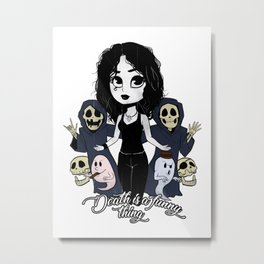 Death is a funny thing Metal Print