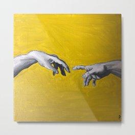 Creation of Adam Hands Metal Print