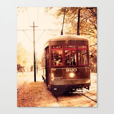 St Charles Street Car - New Orleans Canvas Print