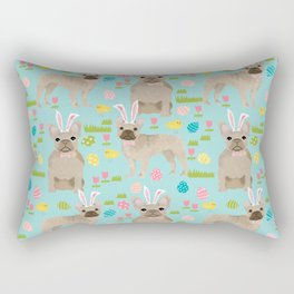 French Bulldog easter bunny spring dog breed pattern frenchies must have Rectangular Pillow