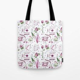 Love Note watercolor pattern Tote Bag