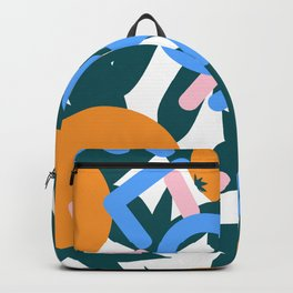 Retro Postmodern 80's Florida Travel Poster Backpack