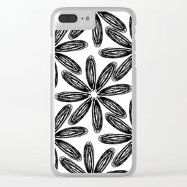 Ballpoint Flower Pattern Clear iPhone Case