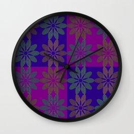 Flower Pattern2 Wall Clock