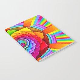 Healing Lotus Rainbow Yin Yang Mandala Notebook