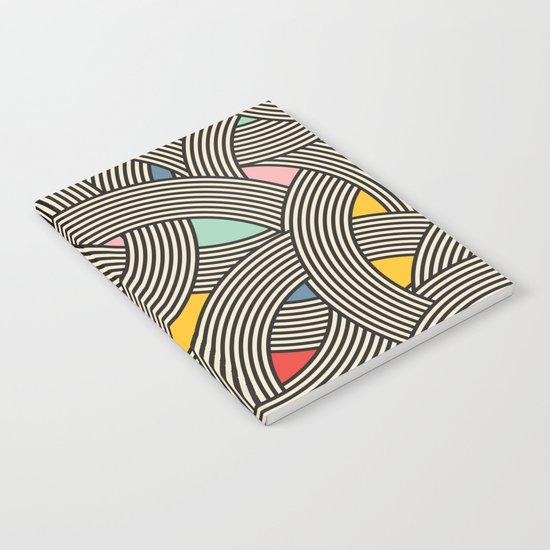 Modern Scandinavian Multi Colour Color Curve Graphic Notebook