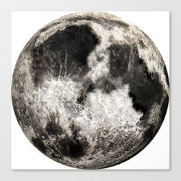 Los Angeles: Telescopic Moon Canvas Print