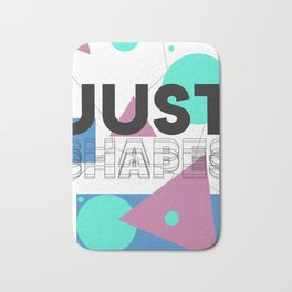 90s Retro Colored Shapes v1 Bath Mat