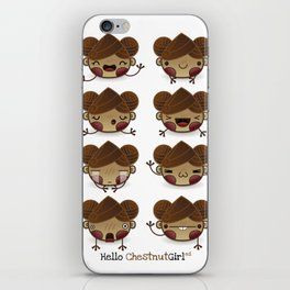 Chestnut Girl Mood iPhone Skin