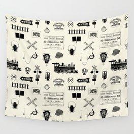 Railroad Symbols // Beige Wall Tapestry