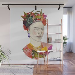 Winking Frida Kahlo collage Wall Mural