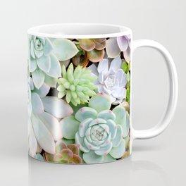 Pastel Succulent Garden Coffee Mug