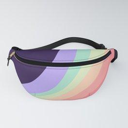Retro Dark Rainbow Fanny Pack