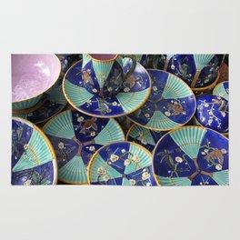 Wedgwood majolica Fan pattern Rug