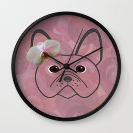 Frenchie Girl Wall Clock