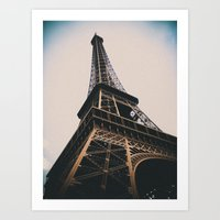 eiffel tower Art Prints featuring Eiffel Tower by Christine Workman