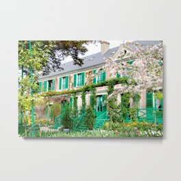 Claude Monet's Garden and Home Metal Print