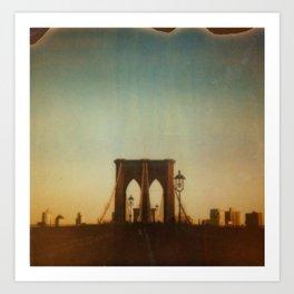 Brooklyn (sunset) Art Print