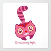 cheshire Canvas Prints featuring Cheshire by gabriela
