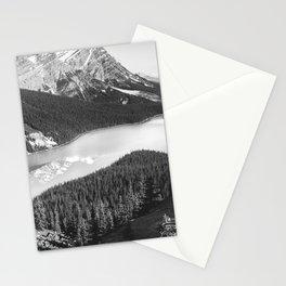 Peyton Lake Landscape | Black and White Photography Stationery Cards