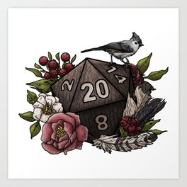 Druid Class D20 - Tabletop Gaming Dice Art Print