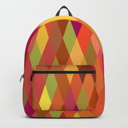 Summer Heat Harlequin Abstract Geometric Backpack