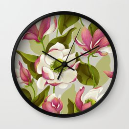 magnolia bloom - daytime version Wall Clock