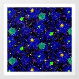 Wrinkle Planet Pattern Art Print