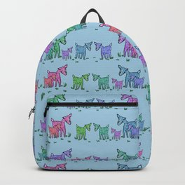 Goat Family Pattern Backpack