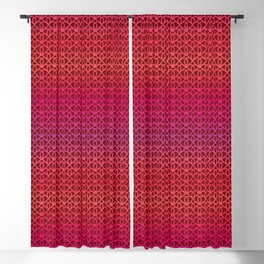 Pattern on burgundy background for Valentine's Day Blackout Curtain