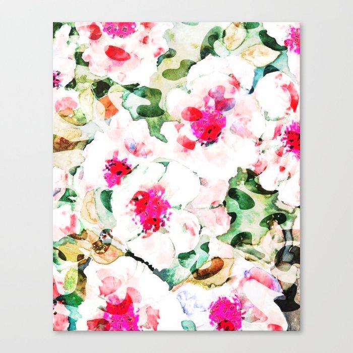 Flower Love #society6 #decor #buyart Canvas Print