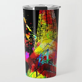 Tour Eiffel Watercolor Grunge Travel Mug