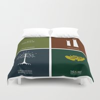 the lord of the rings Duvet Covers featuring Lord of the Rings - Complete Minimalist Collection by Jamesy