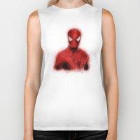 spider man Biker Tanks featuring Spider-Man by KitschyPopShop