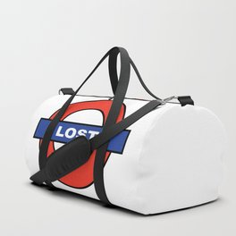 London Underground Spoof Lost Sign Duffle Bag