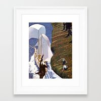 orca Framed Art Prints featuring Orca by Anna Hollings