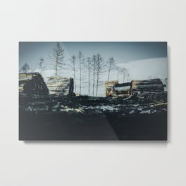 Poltery Site (Wood Storage Area) After Storm Victoria Möhne Forest 2 dark Metal Print