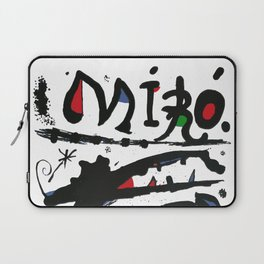 Joan Miro - Eaux Fortes 1983 - Artwork for Wall Art, Prints, Posters, Tshirts, Men, Women, Youth Laptop Sleeve