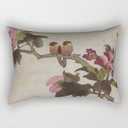 Love Birds - in Oil Rectangular Pillow