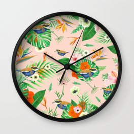 Jewel of The Forest - Pink Wall Clock