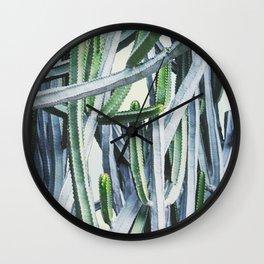 Green Crush Cactus I Wall Clock