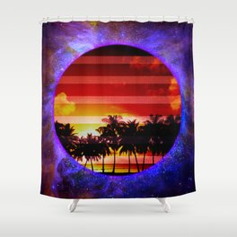 Synthwave Poster v.5 Shower Curtain